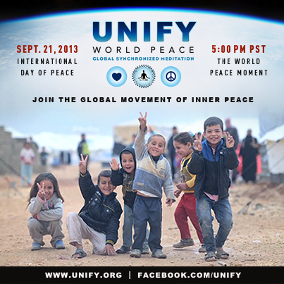 WE Support The Inner Peace Movement  UNIFY_PEACE_FACEBOOK_POST