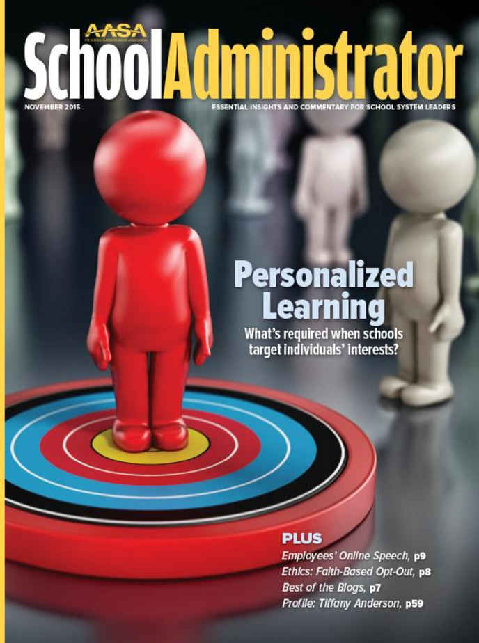 school administrator magazine cover