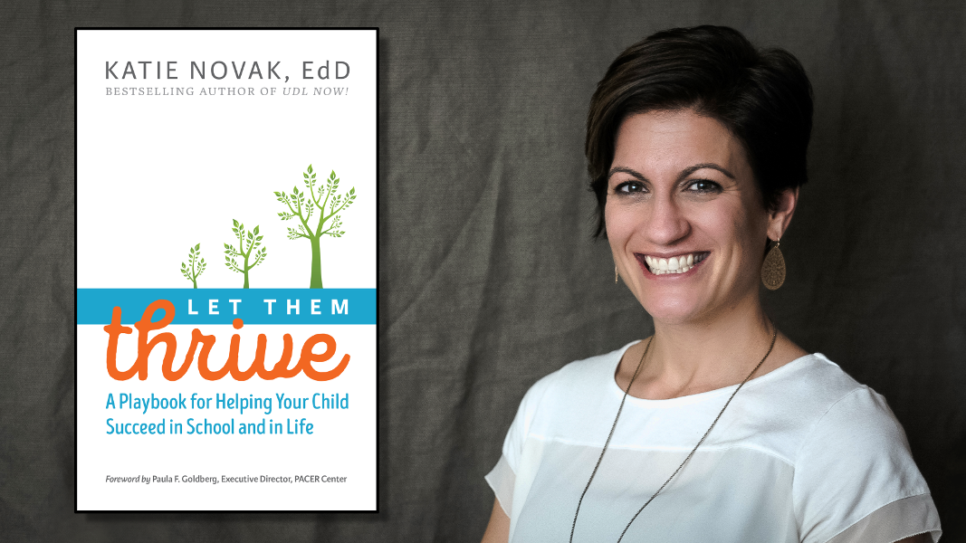 Photo of Katie Novak and her book, Let Them Thrive