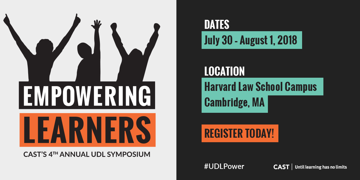 CAST's 4th Annual UDL Symposium: Empowering Learners logo