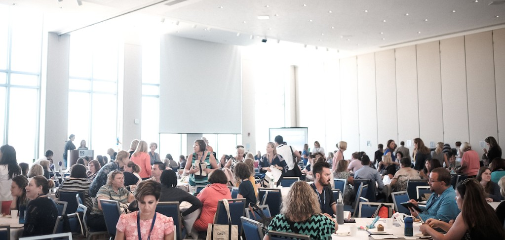 Photo of a room full of participants at a past UDL Symposium