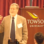 Image of David Rose speaking at Towson University