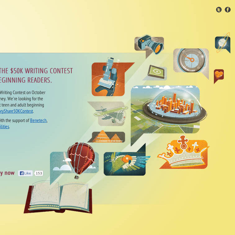 Story Share homepage graphics