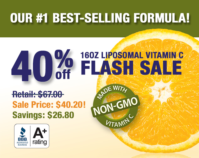 Save 45% on Liposomal Vitamin C