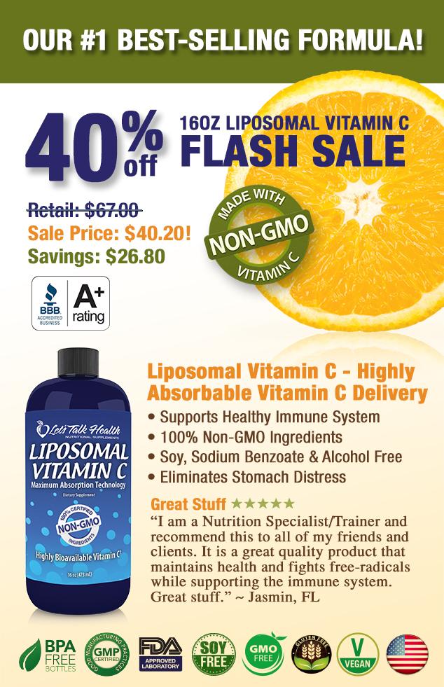 Save 45% on Liposomal Vitamin C