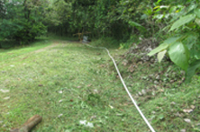 A water line of about 250' laid out to the Water Tank