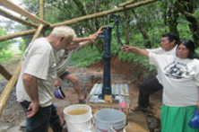 A prayer of Blessing for the water with  Hand Pump installed
