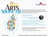 Flyer for SLTA Arts Showcase