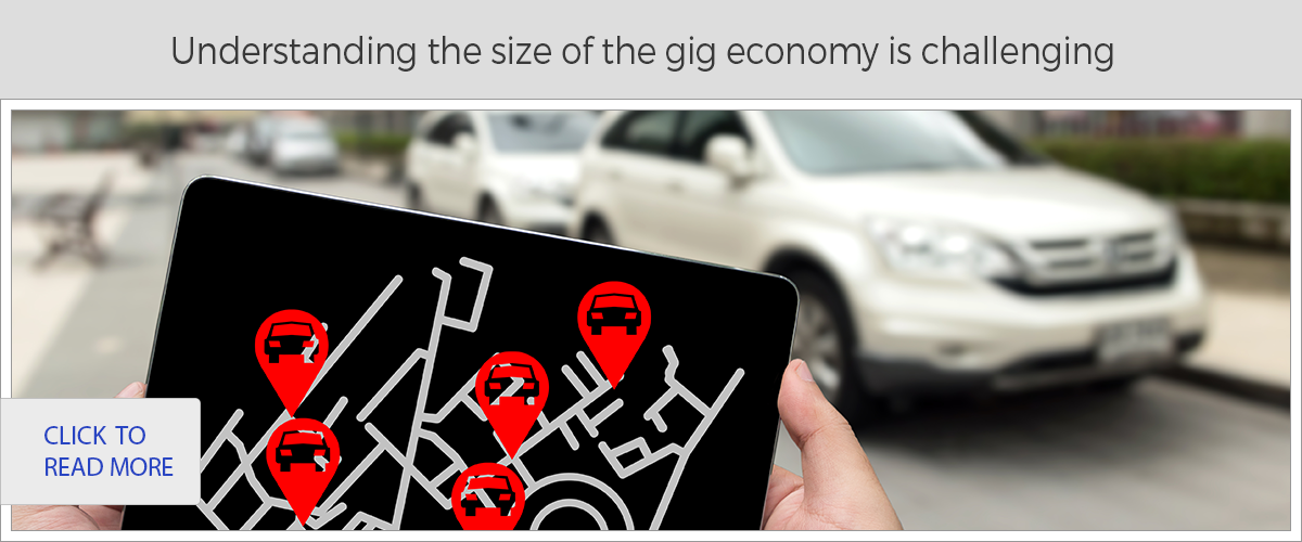 Understanding the size of the gig economy is challenging
