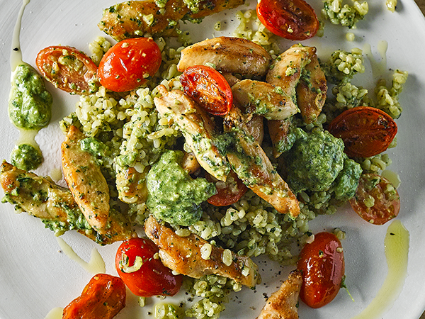 Chicken Pesto Bulgur