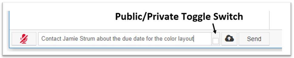 Private/Public Toggle