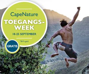 Gratis toegang tot CapeNature reservate tussen 18 en 25 September