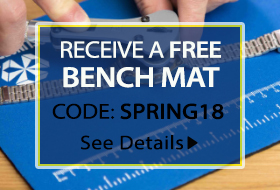 Receive a free bench mat with your next esslinger order.