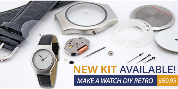 Make Your Own Watch DIY Retro Watch Kit, NEW