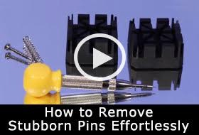 Watch and learn how easy it is to remove stubborn bracelet pins effortlessly.