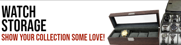 Show Your Collection Some Love! See our latest arrivals in watch storage. 
