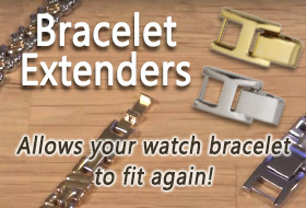 Is your watch bracelet too small? Bracelet Extenders allow your watch band to fit again.