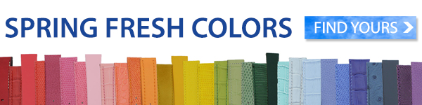 Spring Fresh Colors - Find Yours, Shop Leather Watch Bands