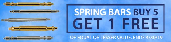 Spring Bars - Buy 5 Get 1 Free