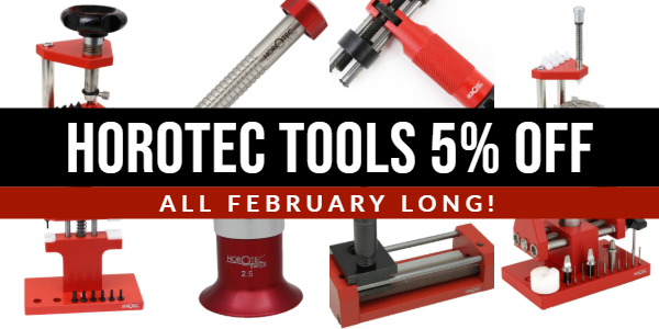 5% OFF Horotec Watchmaking Tools All February Long!