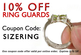 10% OFF RING GUARDS - COUPON CODE - SIZERING