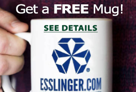 Receive a free mug with your next esslinger order.