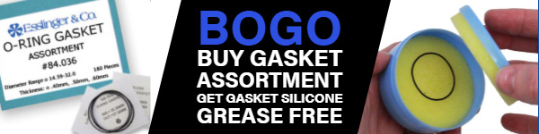 BOGO BUY GASKET ASSORTMENT GET GASKET SILICONE GREASE FREE