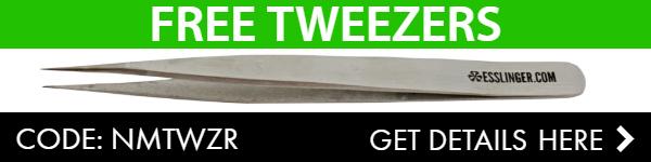 Free Tweezers with $50 Order, Get Code Here!
