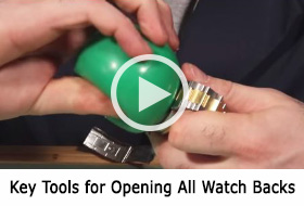 Watch and learn about the key tools for opening all watch backs.