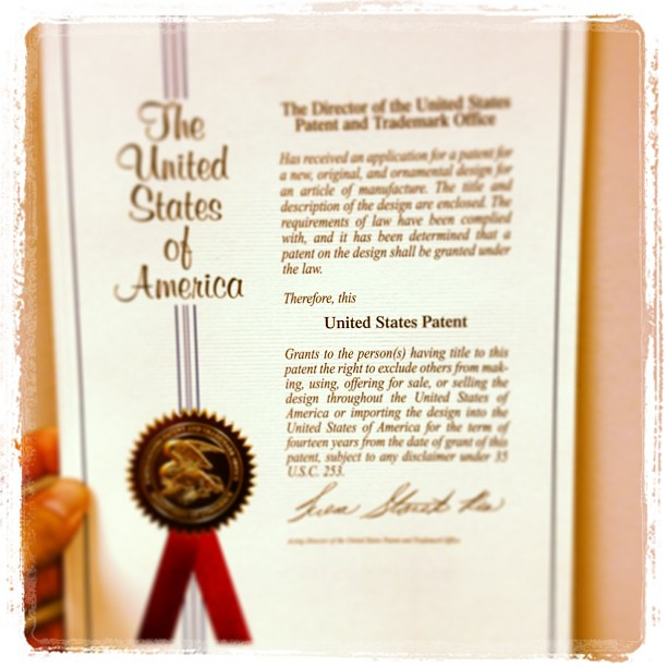 US Patent document for the AT Pad Stand