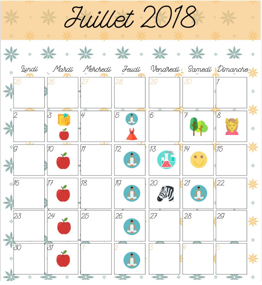 Agenda Juillet