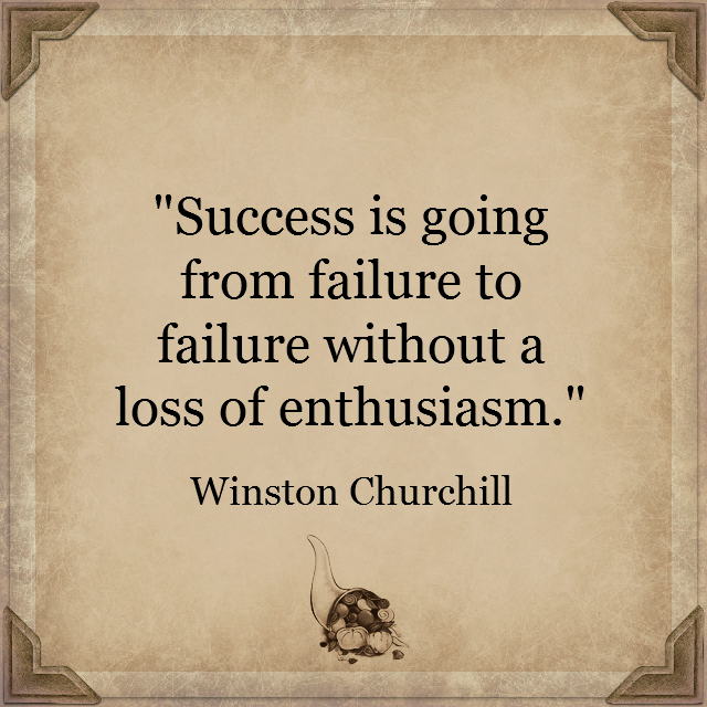 Success is going from failure to failure... Winston Churchill