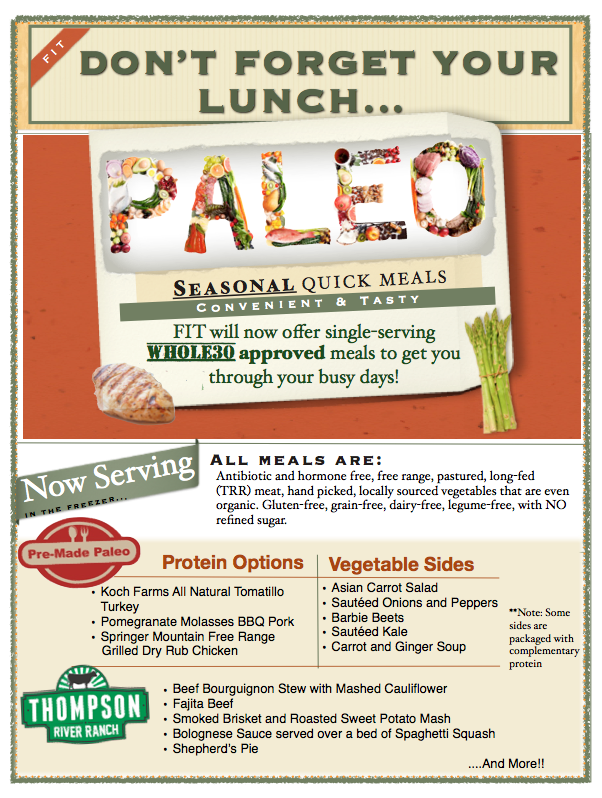 We've got you covered for Lunch!!