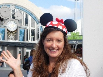 Kathy in Minnie ears