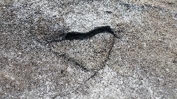 heart in rock