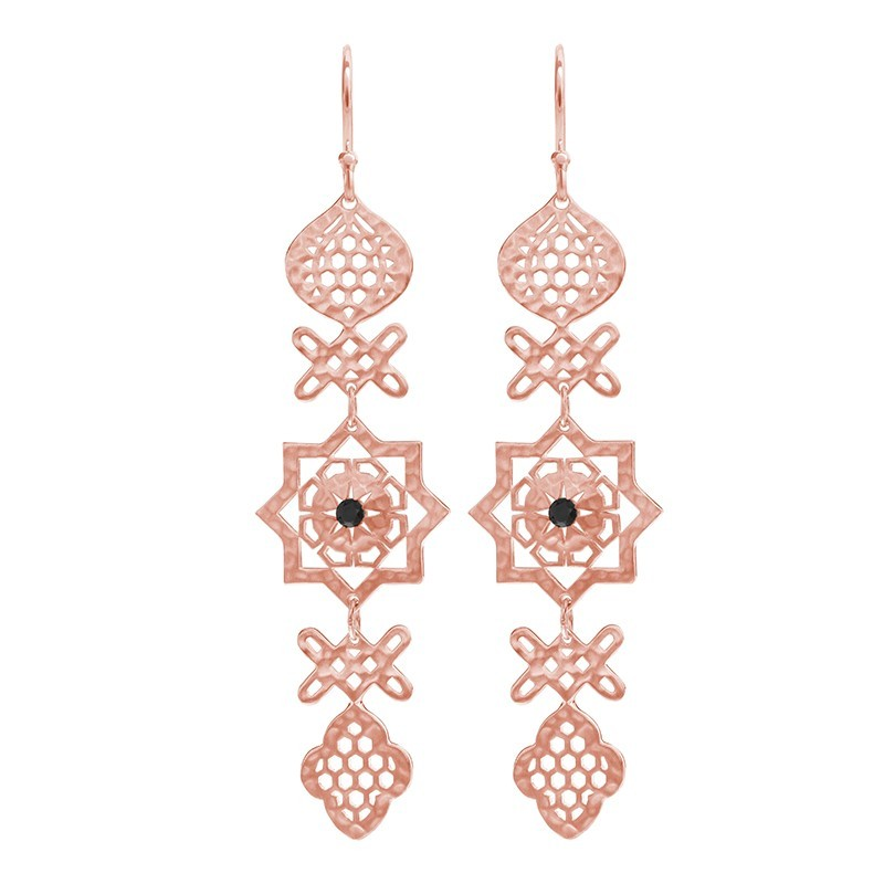 Murkani Andalusia Long Statement Earrings