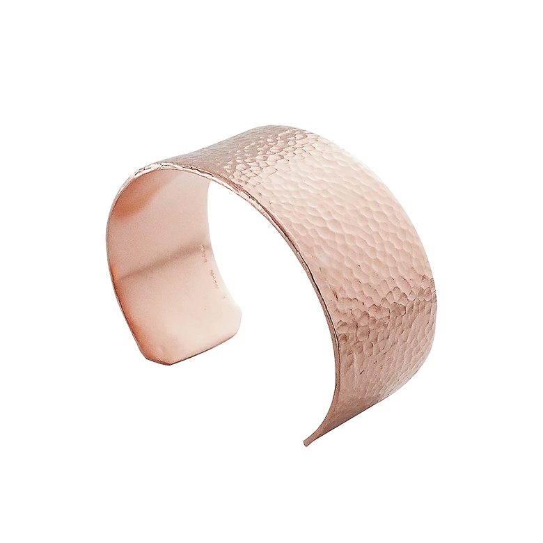 Nicole Fendel Bronte Hammered Cuff in Rose Gold