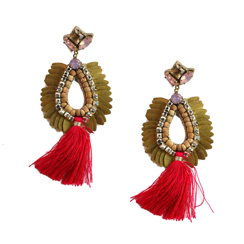 Zoda Olivia Statement Earrings Pink