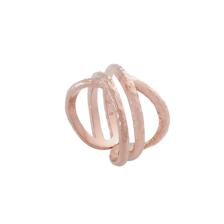 Nicole Fendel Infinity Geo Ring in Rose Gold