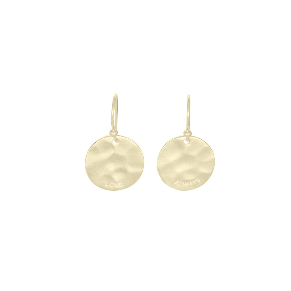 Nicole Fendel Love Disc Earrings