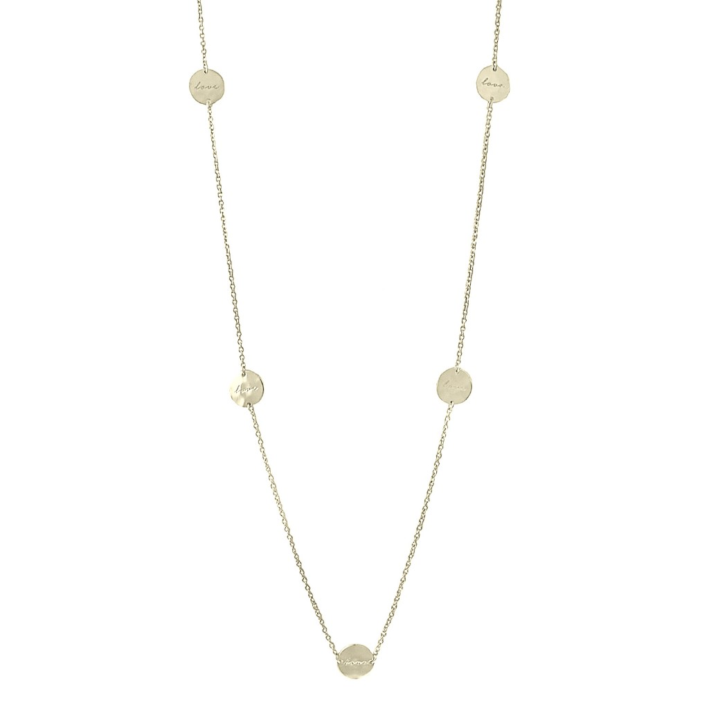 Nicole Fendel Love Small Disc Long Necklace