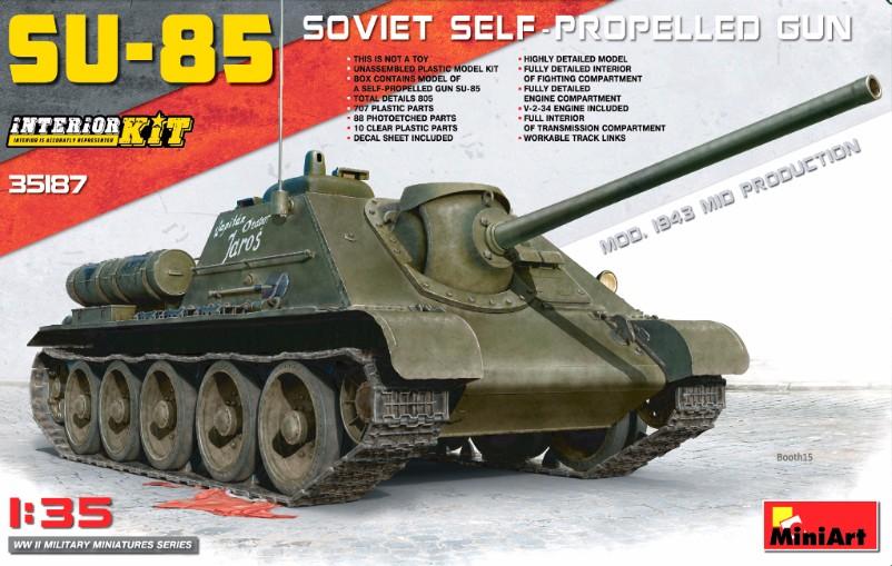35187 SU-85 SOVIET SELF-PROPELLED GUN. INTERIOR KIT