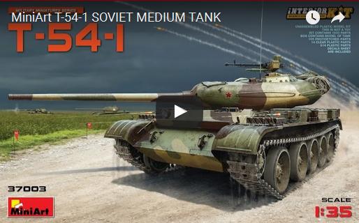 T-54 B SOVIET MEDIUM TANK Early Production by MiniArt (37011)
