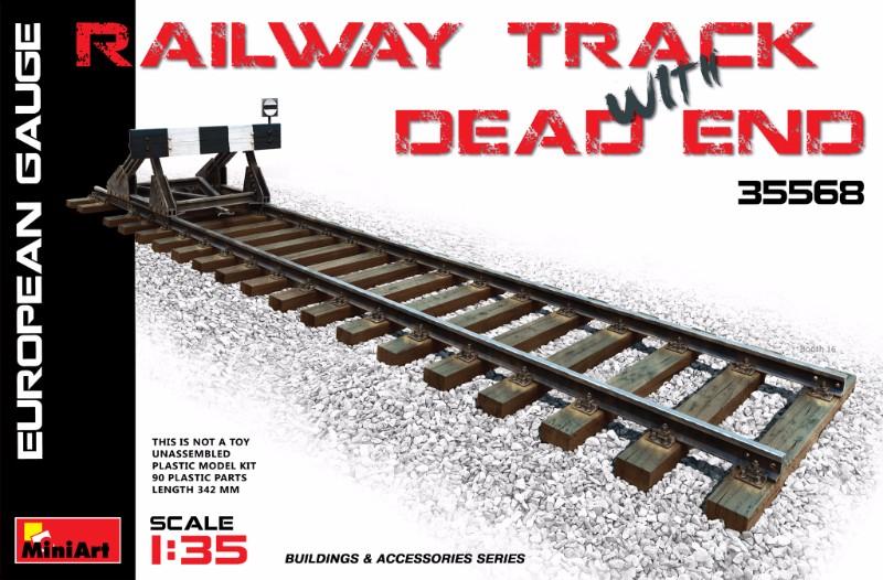 35568 RAILWAY TRACK w/ DEAD END. EUROPEAN GAUGE