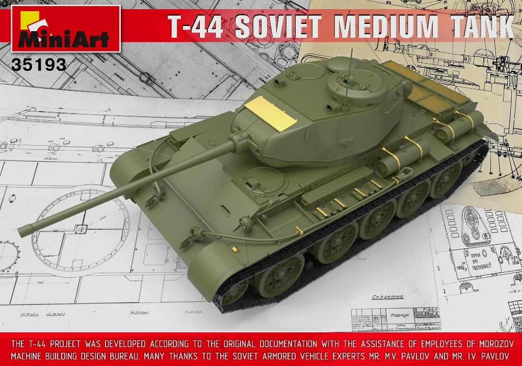 Box Contents of 35193 T-44 SOVIET MEDIUM TANK