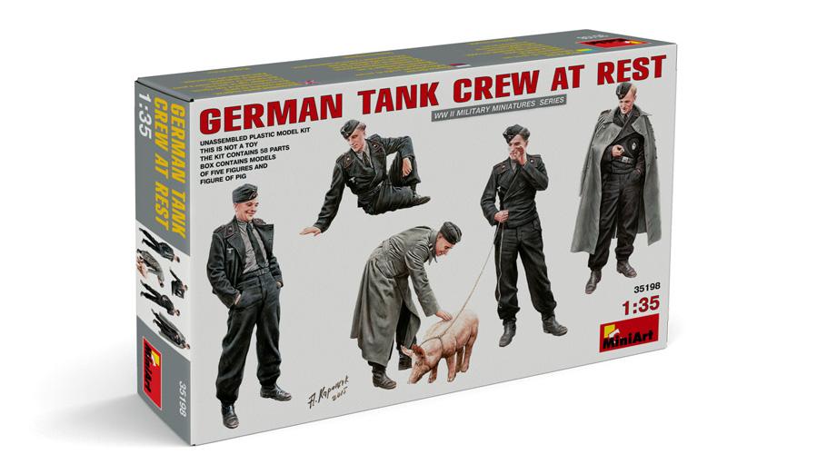 35198 GERMAN TANK CREW AT REST