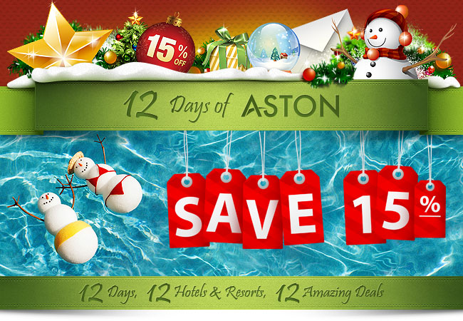 12 Days of Aston - 15% Off Stays at 12 Resorts