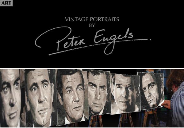 Portrait Artist Peter Engels at Miami Art Week