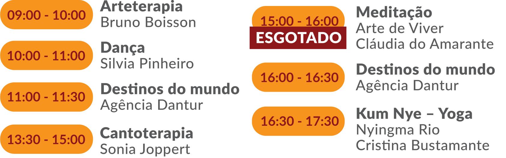 Programacao oficinas - Sala Ipanema