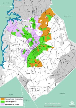 Map of Google Fiber in Charlotte